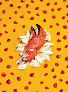 Curry Squash Bisque with Jumbo Lump Crab. Photo: Bobby Doherty