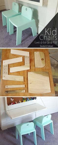 Build A Set Of Super Sturdy, Functional Chairs For The Kiddos! Perfect For  The