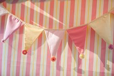 bunting with embellishments!