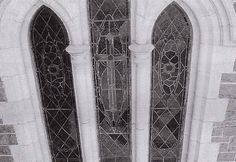 The leadlight windows of St Patrick's Cathedral are a significant feature and should be preserved to the highest possible standards. In repairing the windows care should be taken to ensure that the workmanship is to a high standard and any damage to stonework is repaired.