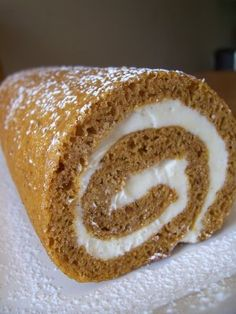 Pumpkin roll - i used to make these EVERY thanksgiving (: