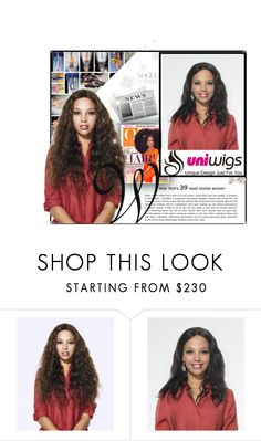 """""""UniWigs -Trendy Wigs"""" by newoutfit ❤ liked on Polyvore featuring women's clothing, women's fashion, women, female, woman, misses and juniors"""