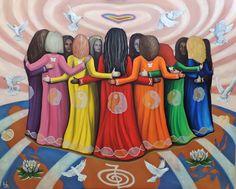 Wild Women Sisterhood celebrating International Women's Day & beyond ❤️ Native Art, Native American Art, Medicine Wheel, Sacred Feminine, Wise Women, Nativity, Artsy, Healing, Artwork