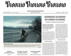 NZZ Visualized: Swiss newspaper goes digital, prints front page in binary
