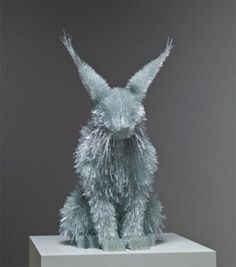 Shattered Glass Animal Sculpture Marta Klonowska -  600x680