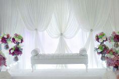 By Flair Design Wedding Henna, Malay Wedding, Wedding Ceremony Programs, Wedding Mandap, Simple Wedding Decorations, Backdrop Decorations, Wedding Scene, Dream Wedding, Sparkle Wedding
