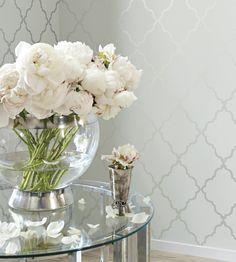 Interior design trend, Trellis geometric wallpaper | Klein Trellis Wallpaper by Anna French | Jane Clayton