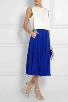 Cropped Top, and Long Skirt