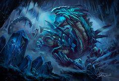 Nifhalheim--the elemental of Ice, . Dleoblack on ArtStation at https://www.artstation.com/artwork/nifhalheim-the-elemental-of-ice
