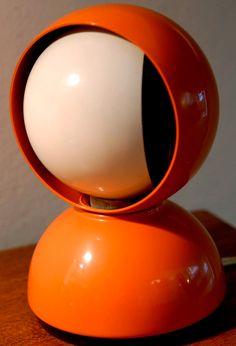 Lampe de Bureau 'éclisse' - Orange - Vico Magistretti - 1967