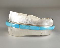 LG Inlay Feather Bracelet (Shaped) | Michael Kirk | Native Artist