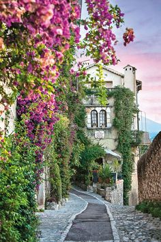 The former home of Jacques Prevert in the French village of St-Paul, in Alpes-Maritimes, in Provence-Alpes-Côte d'Azur, France
