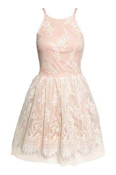 Koronkowa sukienka bez rękawów | H&M