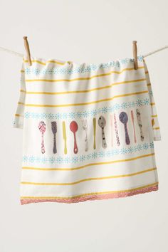 Tea Towel Embroidered and appliqued