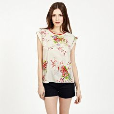 OASIS Oriential Floral Tee- at Debenhams.com