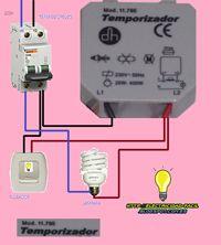 Esquemas eléctricos: temporizador