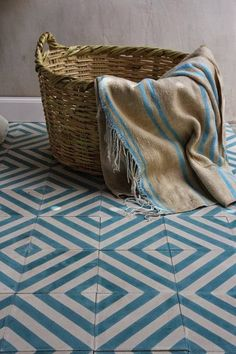 Cement floor tiles sound unexciting but don't be fooled . Here are the best contemporary cement floor tiles in gorgeous colours and stunning patterns. Floor Patterns, Tile Patterns, Encaustic Tile, House Tiles, Bathroom Flooring, Tile Design, Bathroom Inspiration, Marrakech, Tile Floor