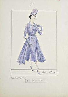 Norman Hartnell designs for H.M. The Queen (Mother), 1940s