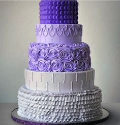 purple cake & other buttercream cakes