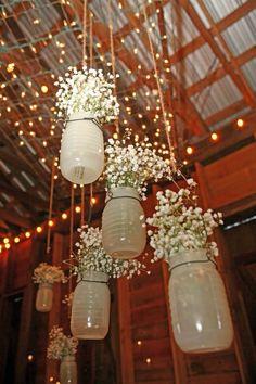 Rustic Wedding - November Wedding - Blended Family - Wedding Photos - North Carolina Wedding - Warrenton, NC - Magnolia Manor Plantation Bed  Breakfast - mason jars