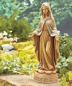 Awesome Mary Statue Peaceful Garden Figures Garden Decor X X