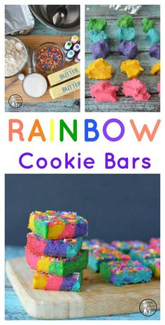 Rainbow Cookie Bars