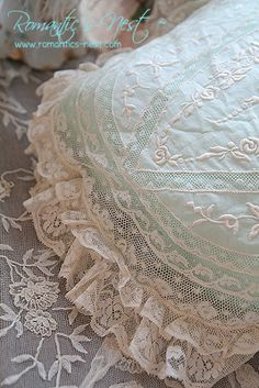 Lace pillow cover for the bedroom