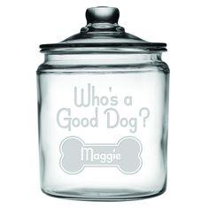 Who's A Good Dog Personalized Dog Treat Jar
