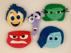 Inside Out Inspired Fondant Cake Topper by KedulceSugarDesigns