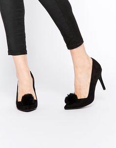 Bild 1 von New Look – Schuhe mit hohem Absatz und Bommeln, weite Passform