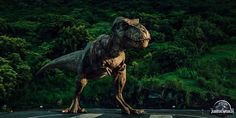 Jurassic World - 2015. In the Jurassic Park movies, they actually used animatronics - so, robot dinosaurs. They then edited the scenes to make everything more smooth running and extra realistic.