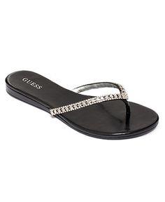 01ff0bdbb75146 GUESS Jasper Embellished Flip Flops Shoes - Sandals   Flip Flops - Macy s