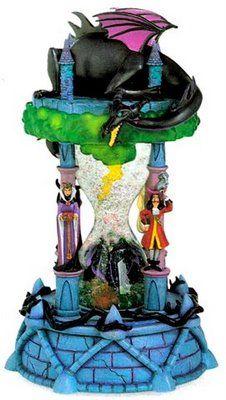 Peter Pan Villians Hourglass Snowglobe