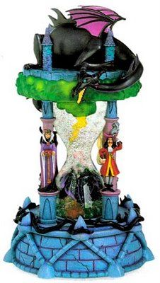 Peter Pan Villians Hourglass Snowglobe