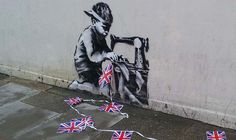 Banksy - Child Labour, London, 2012