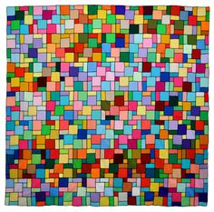 "Wonkyworld: ""Modern Materials, Quilts of the opens Aug. 21 at Benton County Museum Crumb Quilt, International Quilt Festival, Scrappy Quilts, Simple Shapes, Basic Shapes, Modern Materials, Double Knitting, Color Of The Year, Quilt Top"