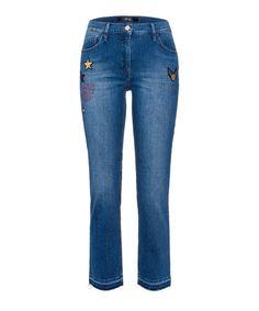 BRAX Style Maya S Badge »Statement: modische Five-Pocket-Jeans« für 59,95€. Damenhose, Five-Pocket-Jeans, Taschen: Five-Pocket bei OTTO