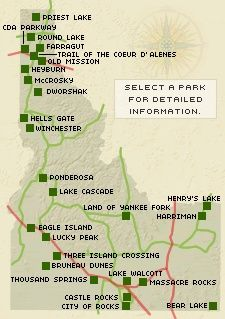 Look at all these amazing Idaho State Parks! #BoiseIdaho #Idaholove #Idahome #BestKeptSecret