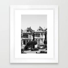 San Francisco Framed Art Print by Mrs. Peter | Society6