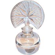 Lovely Pressed Glass Fan Style Top Perfume Bottle