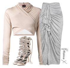 A fashion look from June 2015 featuring white crop tops, midi skirt and high heel shoes. Browse and shop related looks. Basic Outfits, Latest Outfits, Classy Outfits, Stylish Outfits, Girl Outfits, Cute Outfits, Fashion Outfits, Outfits 2016, Polyvore Outfits
