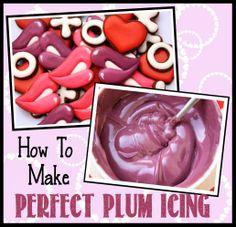 How to make PLUM icing - LilaLoa