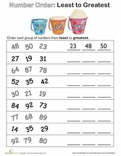 Printables Comparing And Ordering Whole Numbers Worksheets summer skip counting and first grade activities on pinterest worksheets number order least to greatest