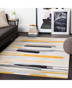 Means MEAN with colors Mustard, Mustard/Black/Light Gray/Taupe/Beige/Khaki. Machine Woven Polypropylene Modern made in Turkey Contemporary Area Rugs, Modern Contemporary, Mustard Bedding, Paint Stripes, Drip Painting, Indoor Rugs, Rug Cleaning, Home Decor Trends, Decor Ideas
