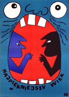 Najpienkniejszy Wiek [The Most Beautiful Age] film poster, designed by Bohdan Butenko, Czechoslovakia, 1969.