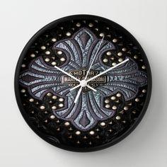 Leather Logo  Wall Clock