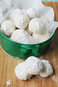 Snowball Cookies...A super-moist, powdery deliciousness traditional snowball cookie. The holidays are not complete without snowball cookies.