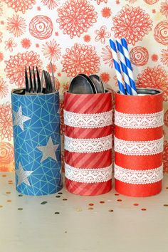 punk projects: DIY 4th of July Picnic Recycled Tins