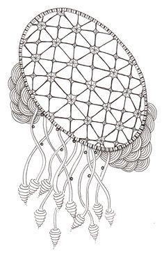 #76 Zentangle dreamcatcher