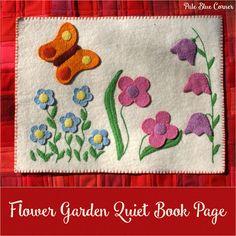 Pale Blue Corner: Flower Garden Quiet Book Page